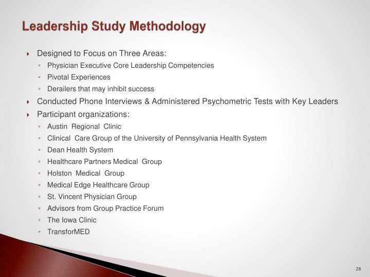 Leadership Study Methodology