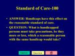 standard of care 100