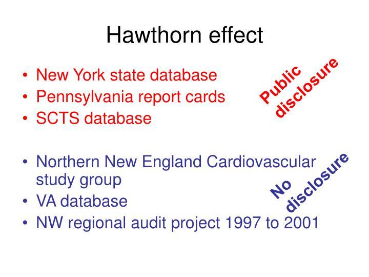 Hawthorn effect