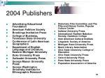 2004 publishers