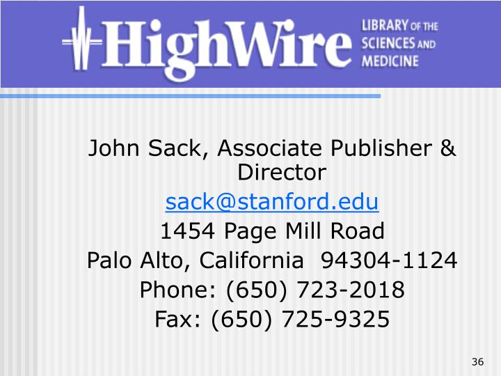 John Sack, Associate Publisher & Director