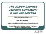 the alpsp learned journals collection a win win solution