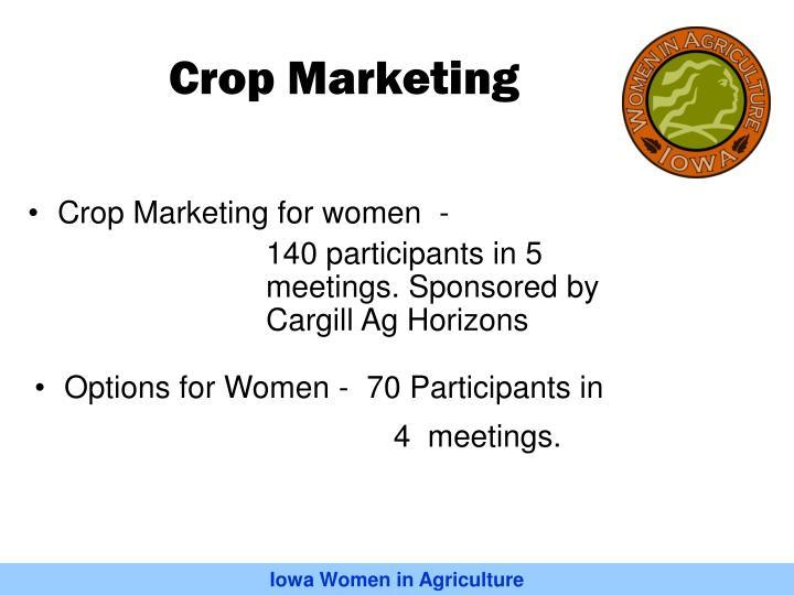 Crop Marketing for women  -