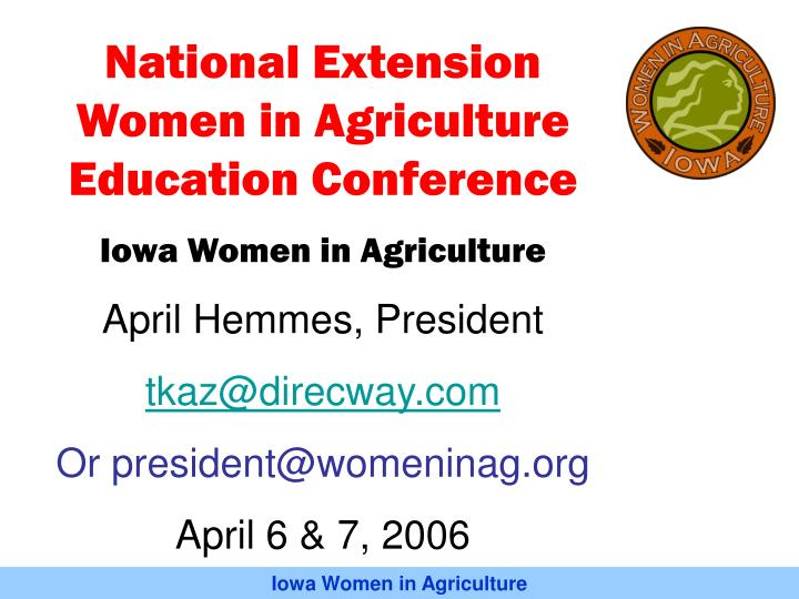 National Extension Women in Agriculture Education Conference