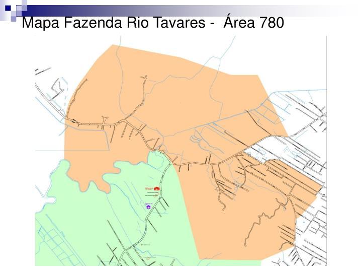 Mapa Fazenda Rio Tavares -  Área 780
