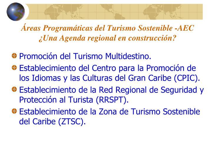 Áreas Programáticas del Turismo Sostenible -AEC