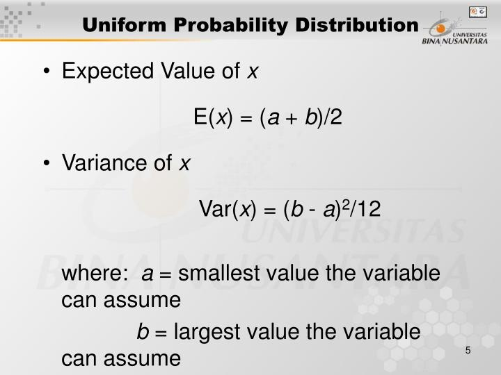 Uniform Probability Distribution