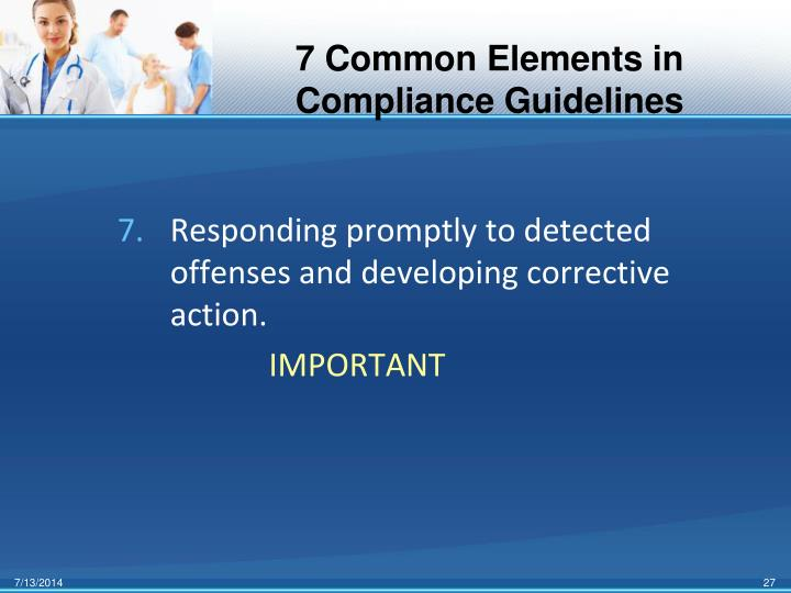 7 Common Elements in Compliance Guidelines