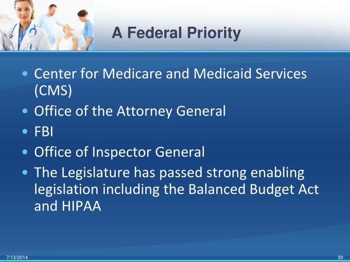 A Federal Priority