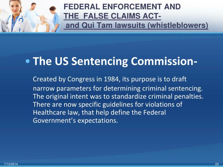 FEDERAL ENFORCEMENT AND