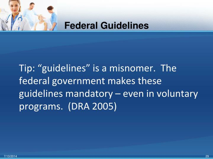 Federal Guidelines