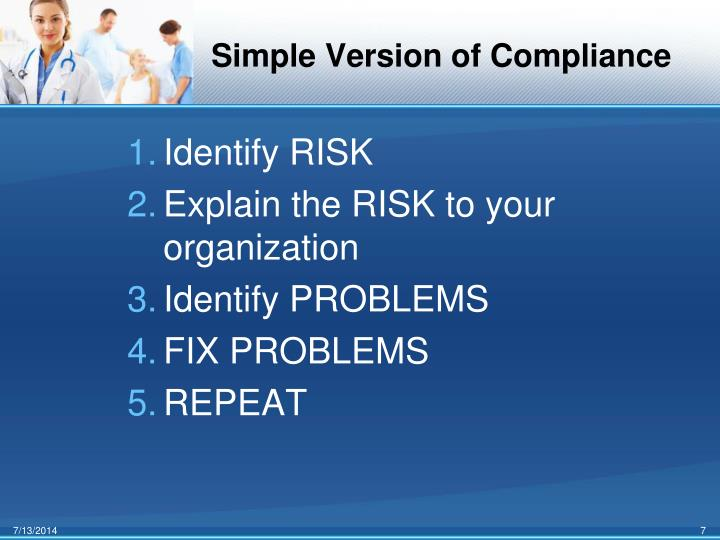Simple Version of Compliance