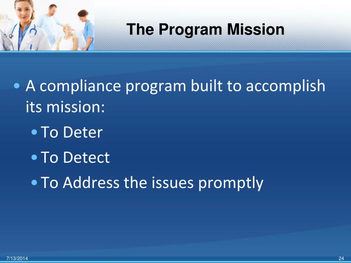 The Program Mission