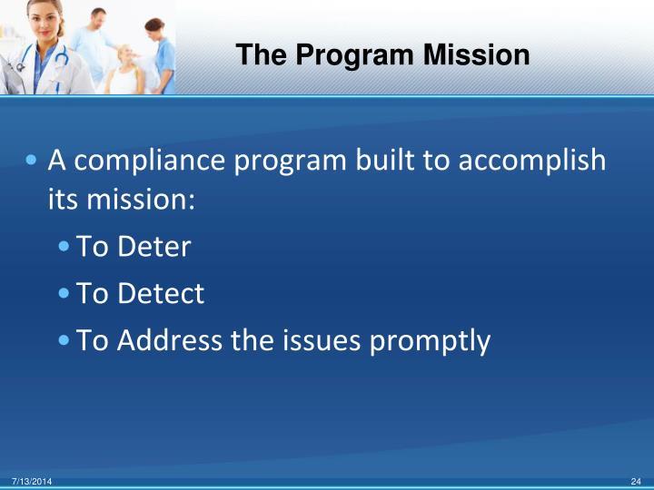 The Program Mission