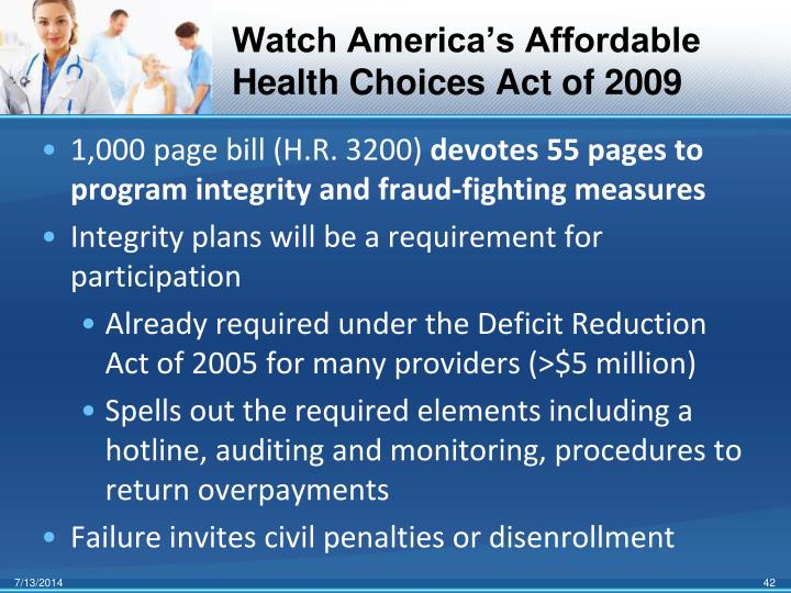Watch America's Affordable Health Choices Act of 2009