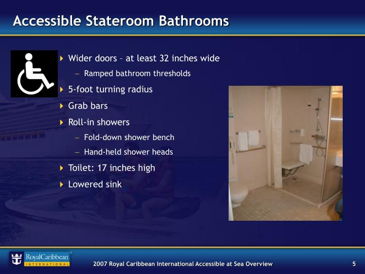 Accessible Stateroom Bathrooms