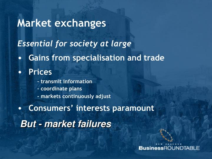 Market exchanges