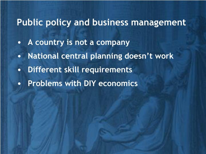 Public policy and business management