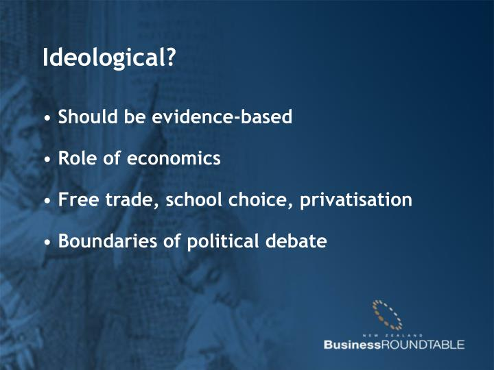 Ideological?