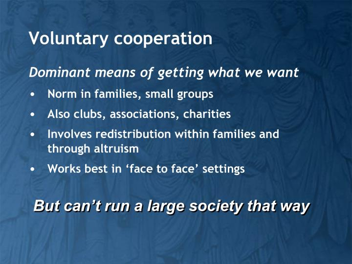 Voluntary cooperation