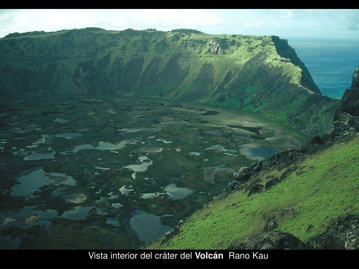 Vista interior del cráter del