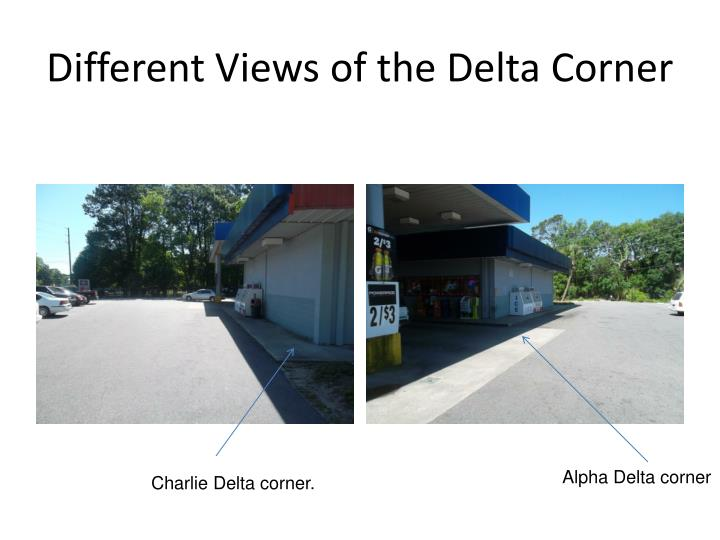 Different Views of the Delta Corner