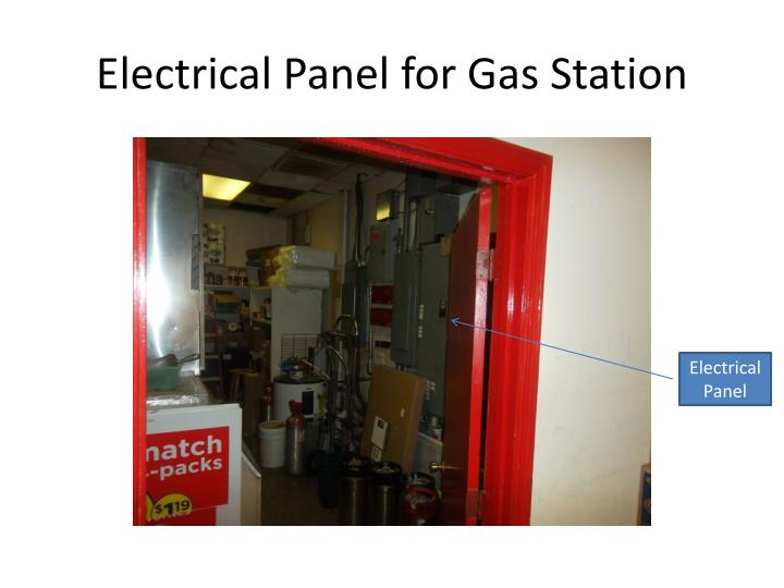 Electrical Panel for Gas Station