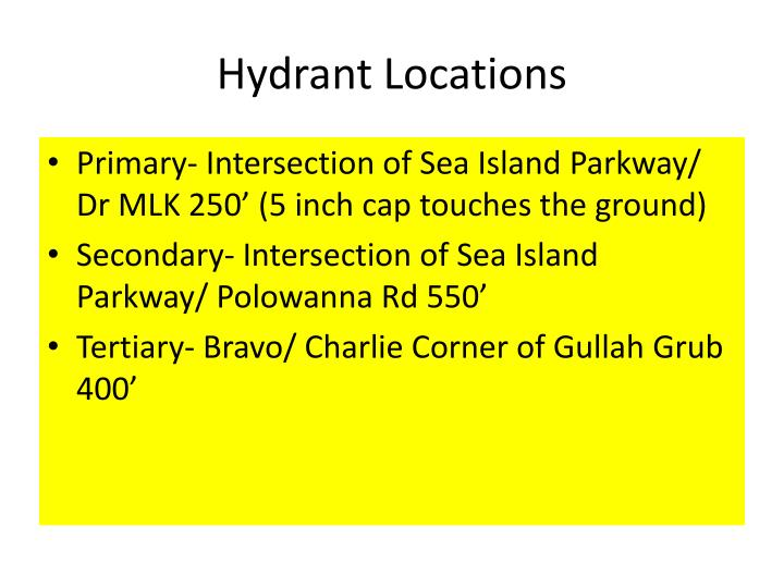 Hydrant Locations