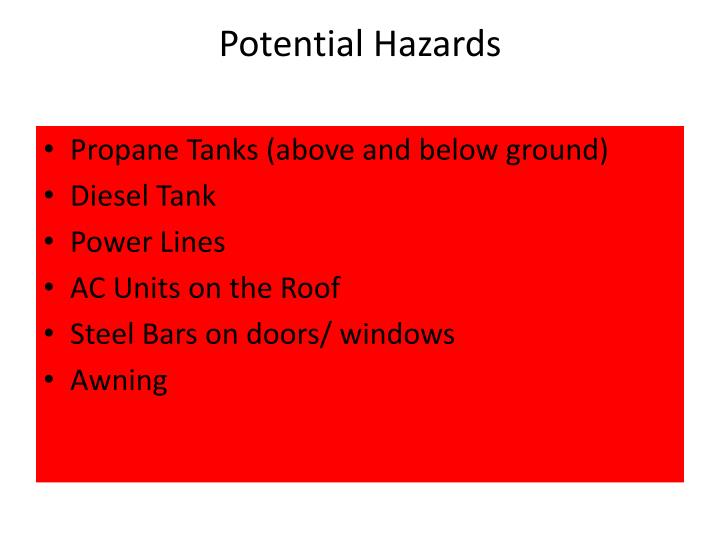 Potential Hazards