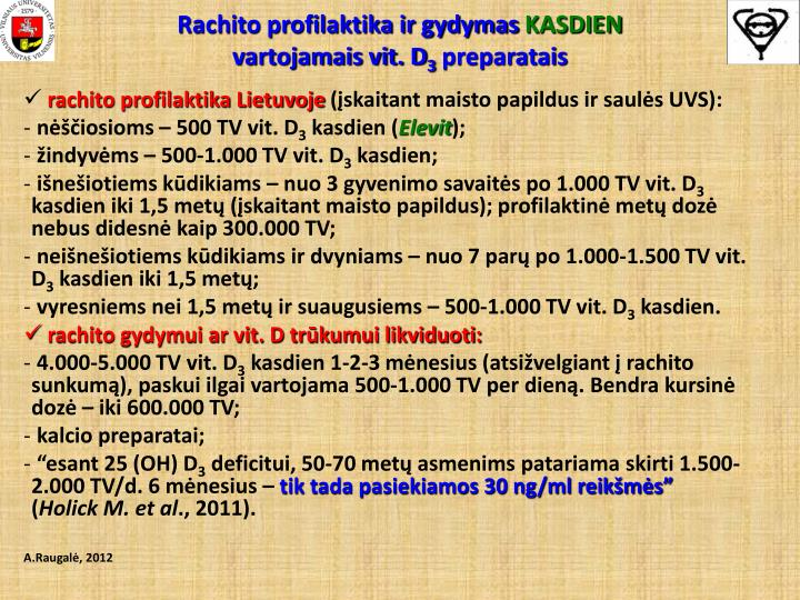 Rachito profilaktika ir gydymas