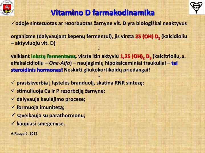 Vitamino d farmakodinamika