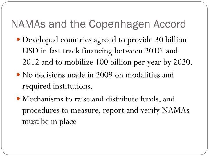 NAMAs and the Copenhagen Accord