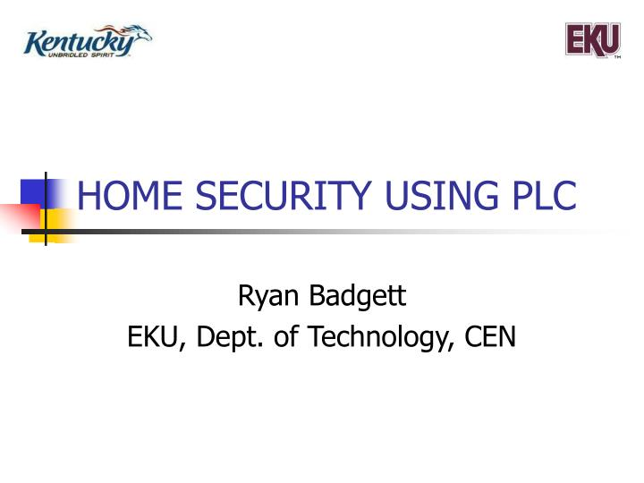 Home security using plc