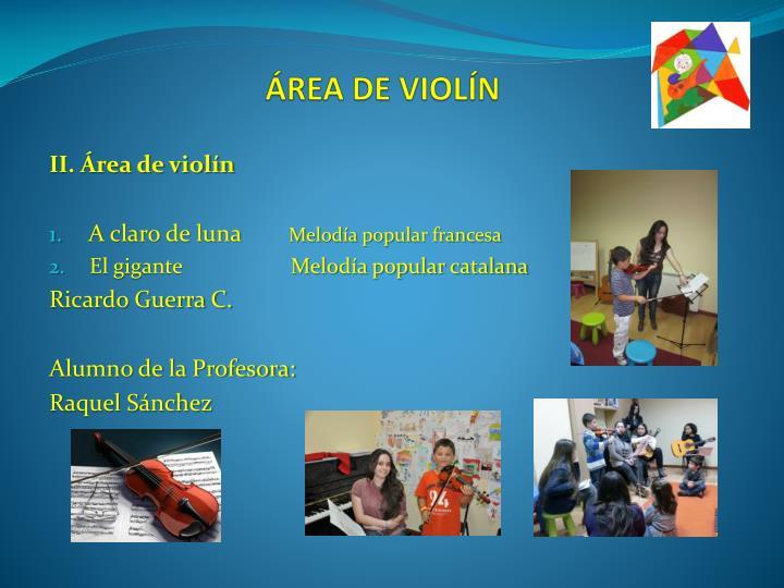 ÁREA DE VIOLÍN