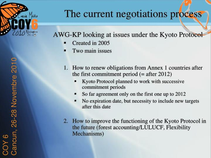 AWG-KP looking at issues under the Kyoto Protocol