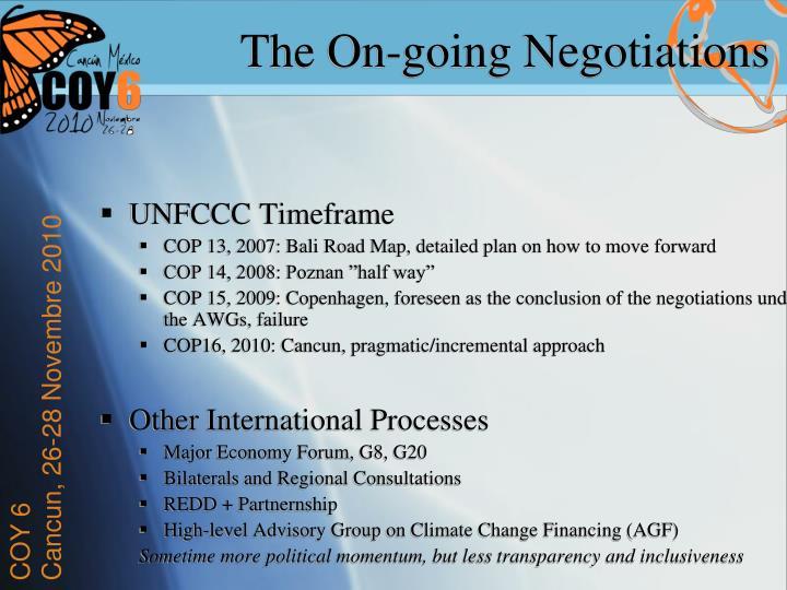 UNFCCC Timeframe