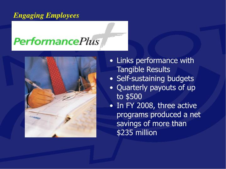 Links performance with Tangible Results