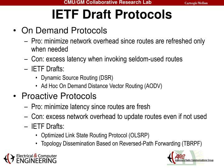 IETF Draft Protocols