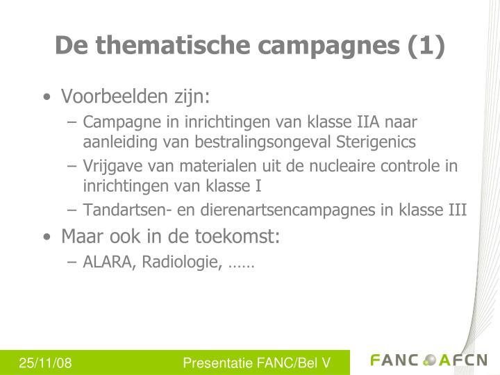De thematische campagnes (1)