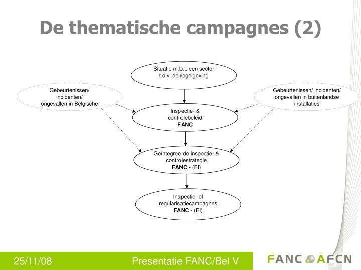 De thematische campagnes (2)