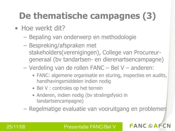 De thematische campagnes (3)