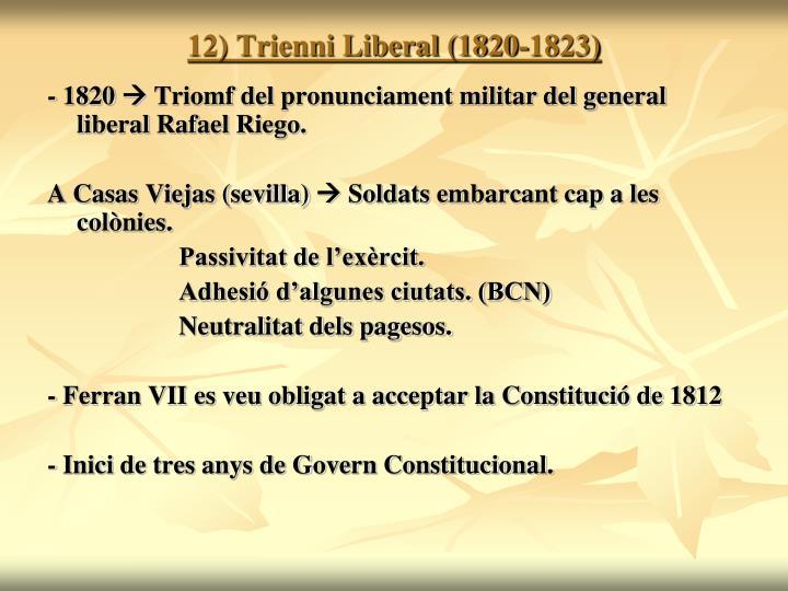 12) Trienni Liberal (1820-1823)