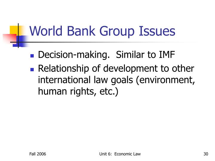 World Bank Group Issues