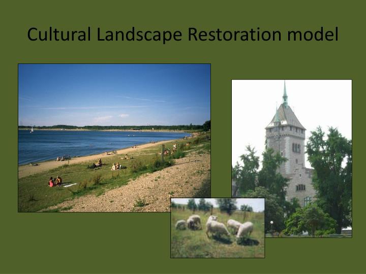 Cultural Landscape Restoration model