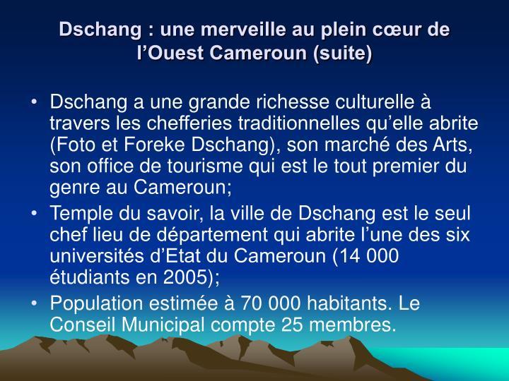 Dschang : une merveille au plein cœur de l'Ouest Cameroun (suite)