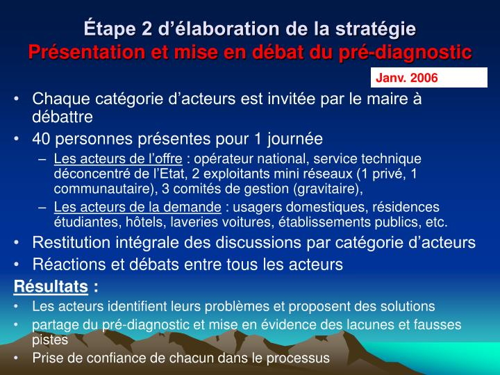 Étape 2 d'élaboration de la stratégie