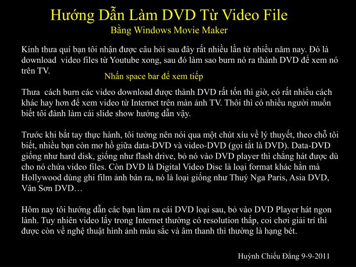 Hng Dn Lm DVD T Video File