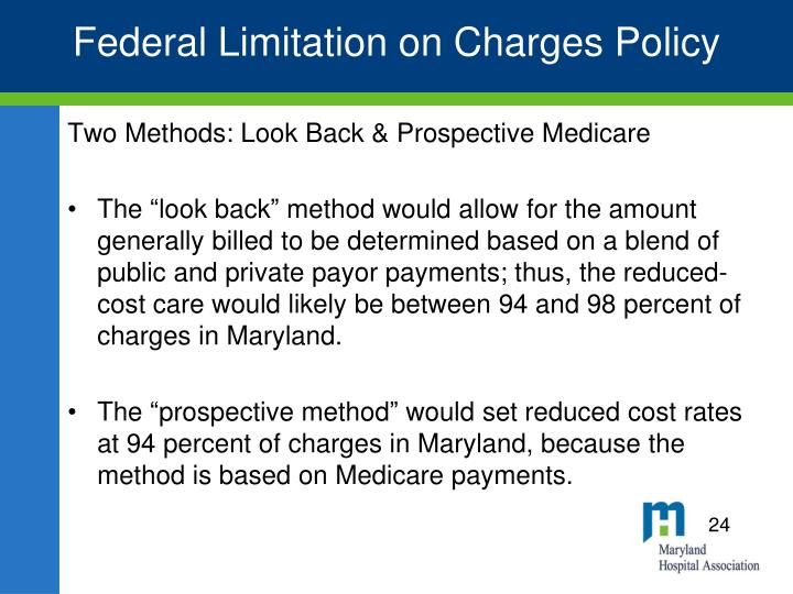 Federal Limitation on Charges Policy