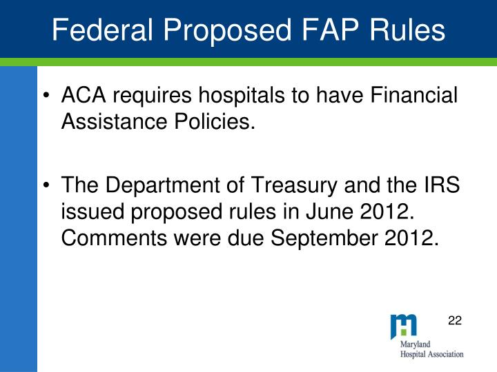 Federal Proposed FAP Rules
