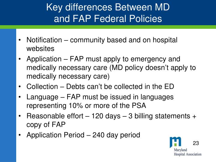 Key differences Between MD